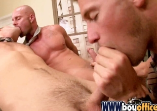 Gay office boys in hot cock sucking trilogy on the chiffonier