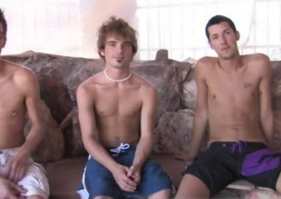twinks are in a threesome sucking superior to before each other