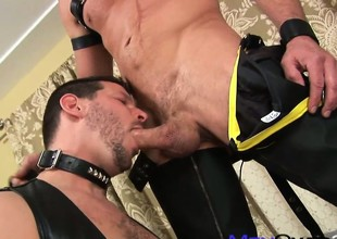 Cock Bent for Leather by buttock easy trouser wearing old bastard