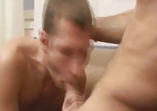Dude sucks hot cock and condomless ass bareback