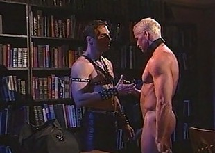 Hot leather sensation fetish with muscled gay hunks