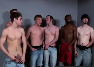 Gay video Lucky for him he met the Bukkake Boys!