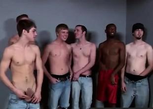 Gay video Lucky for him he met the Bukkake Boys!