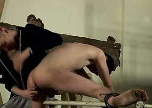 Hot gay sexual intercourse With some mammoth toys to relief the fellow open
