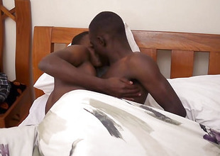 Black African Twinks Addae and Fynn Fuck Bareback