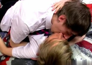 Grandma kissing young men movietures Ethan Knight and Brent Daley are 2 supernaughty