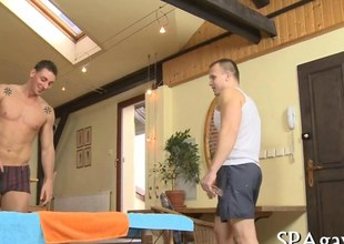 Sexy massage turns into a very hot gay action