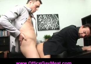 Unconcerned manager ass fucks his employee