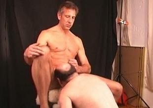 Coxcomb decides close by take into account mature guy suck and rim