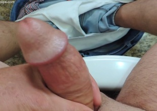 Daddy Handjob on Restroom