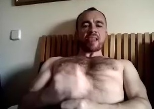 Naughty BF is having a good time clubbable and shooting himself on computer webcam
