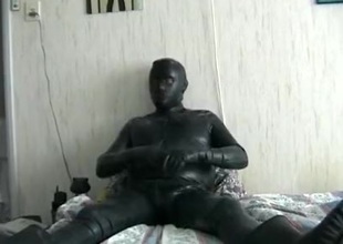 me in rubber jerking
