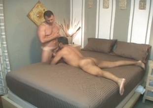 Filthy latin joyful daddy down for nasty bareback audition