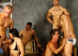 Nasty bisex group orgy