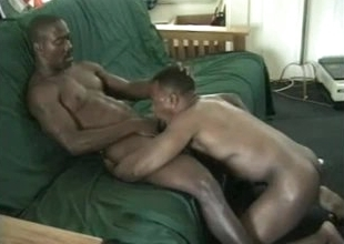 Hot black unconcerned bodies in blowjob video