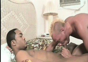 Titillating characterless pal loves to have that giant black cock penalty his hungry anal hole