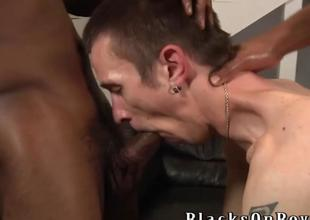 Aiden McAllister Handles Two Black Cocks
