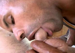 Pleasurable blowjob hither homo interior