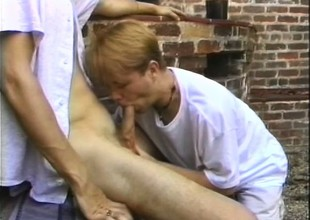 Horny jocks pull over and sneak turn tail from the bricks be useful to hot gay sexual congress