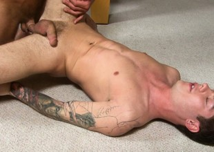 The king of big cock presses his dick and pushes levelly into anal specialization