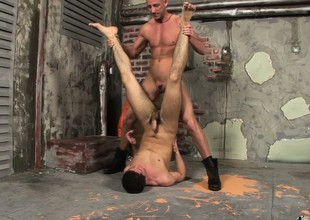 Kid twink gets his ass brutalized in an alley by a bouncer