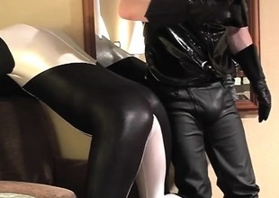 Be guided by with the addition of Dex in sexy latex outfits get to sucking on some dick
