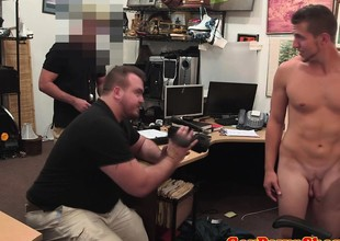 Freely hunk poses nude to get cash