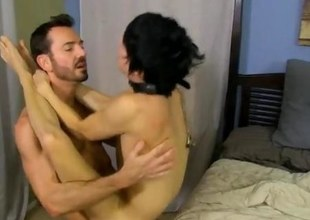 Hunk fucks his twink partner so hard