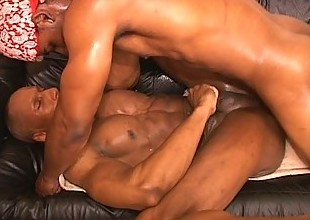 Hot muscled gay thugs hardcore anal pounding session