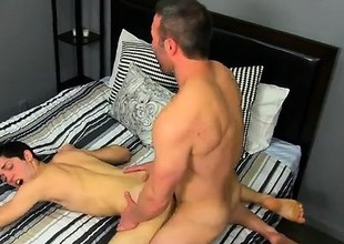 Gay clip of He gets on his knees and deepthroats Brock's kno