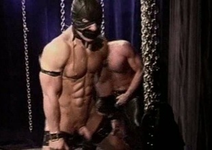 Muscle stud keester flogging with an increment of whipping