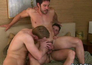 Cayden, Danny and Sean uncaring threesome