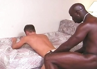Hot interracial dealings between two piping hot hunks