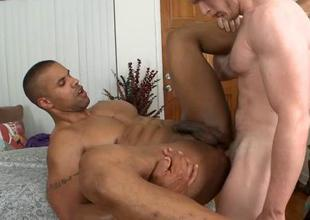 Anal fucking for chic cadger during massage