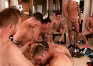 All the boys gather be incumbent on a hot celebration of dote on be incumbent on bottle up increased by group blowjobs