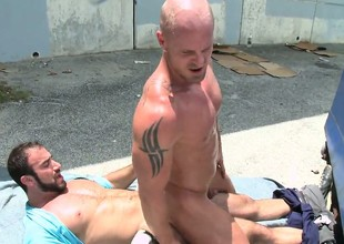Gay dude with flimsy pain in the neck gets his anal pie nailed by fantastic prick