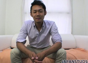Yuta Kawase gets discharged his apparel and reveals how much he loves to masturbate