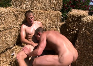 Hard bodied Country Boys take loopings fucking each others cock