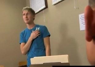 Twink partisan sucking off his teacher