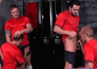Cum loving battlefield jocks in lockerroom having it away