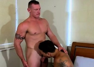 Gay movie With his cum penetrated out of him, Tate gets a pu