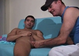 Latino straight boy cocksucking