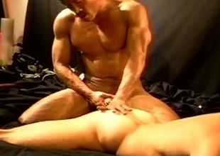 CBT 1 muscle stud fucks and then bashes dramatize expunge other studs balls