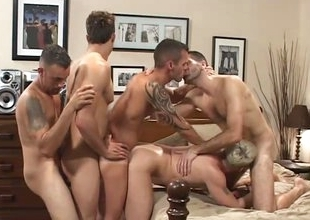 Double fuck my ass - oversexed orgy scene