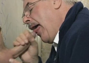 Daddy loves his big cock sucking gloryhole