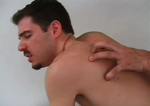 Torrid ass-fucker is porking the tight pain in the neck of hairy stud gently